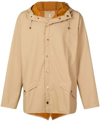 Rains buttoned hooded coat