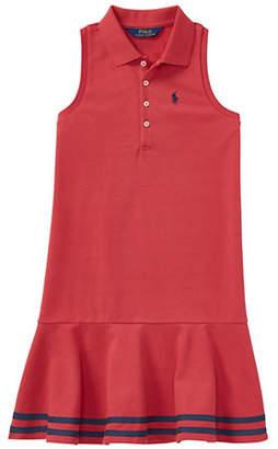 Ralph Lauren Striped Mesh Shirtdress