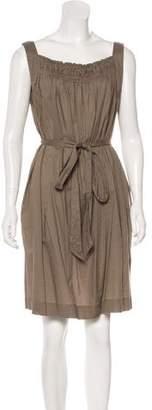 Malia Mills Pleated Knee-Length Dress