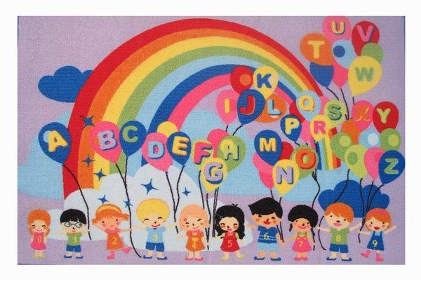 Alphabet, Balloons and Rainbows Accent Rug (1'6 x 2'4)