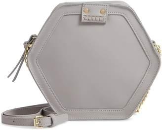 Leith Hexagon Faux Leather Crossbody Bag