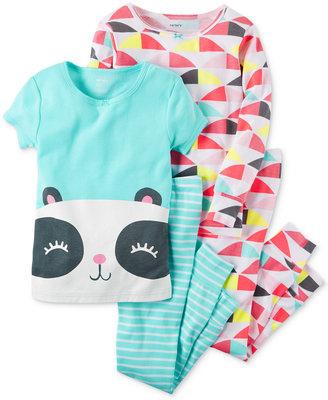 Carter's 4-Pc. Panda & Geo-Print Pajama Set, Baby Girls (0-24 months) $34 thestylecure.com