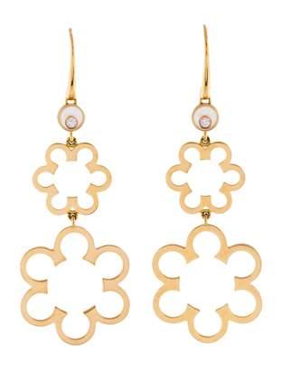 Chopard Happy Diamonds pink gold earrings