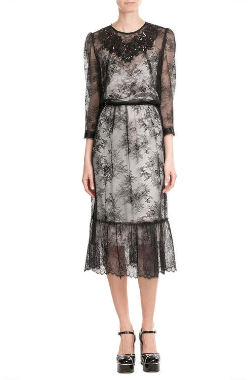 Marc Jacobs Marc Jacobs Lace Dress with Sequins
