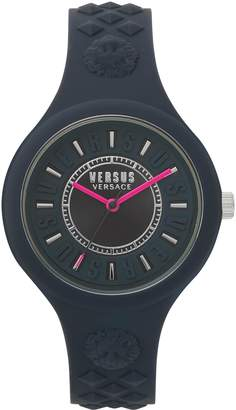 Versace Fire Island Silicone Strap Watch, 39mm