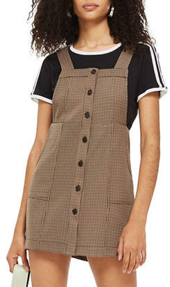 Topshop Heritage Checked Pinafore Dress