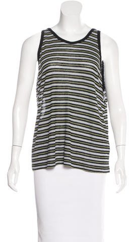 Alexander Wang T by Alexander Wang Striped Sleeveless Top w/ Tags