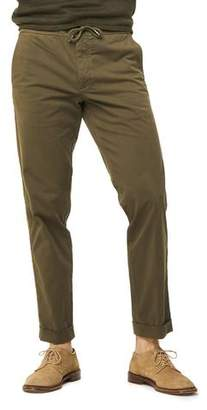 Todd Snyder Stretch Drawstring Twill Jogger in Olive