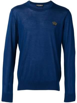 Dolce & Gabbana logo crest sweater