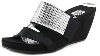 Yellow Box Olivia Women US 6.5 Black Platform Sandal