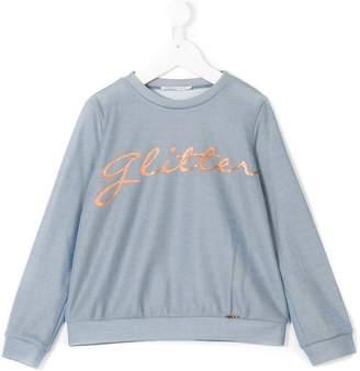 Liu Jo Kids glitter print sweatshirt