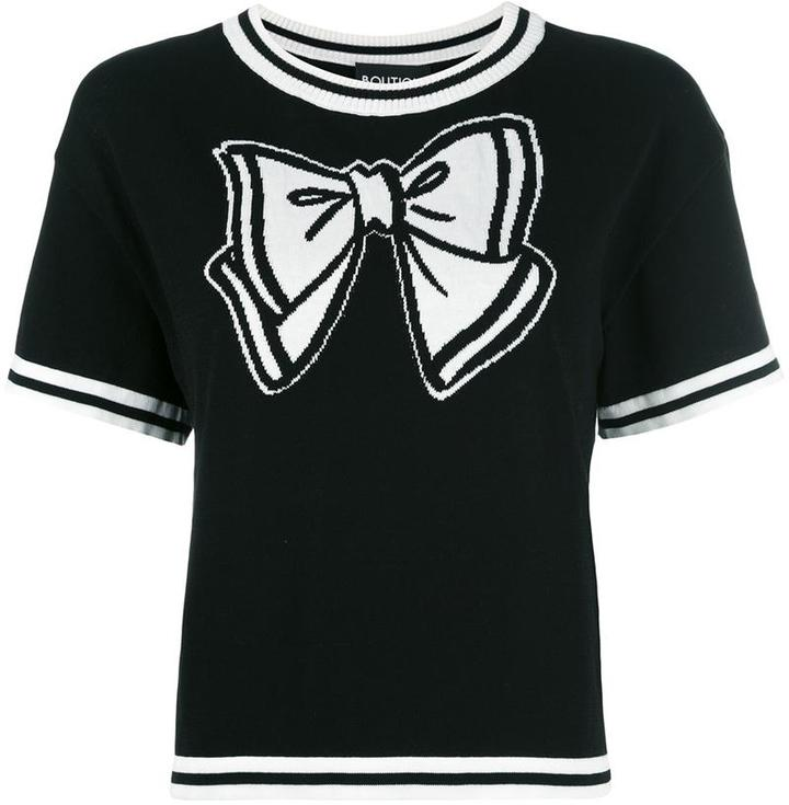 Moschino Boutique Moschino bow knitted T-shirt