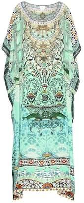 Camilla Embellished silk caftan