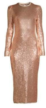 Rachel Zoe Jeane Metallic Knit Midi Dress