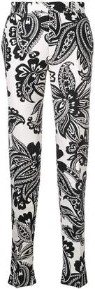 Alexander McQueen paisley print trousers