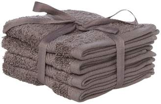 Hotel Collection Luxury Zero twist face cloth set of 4 in pewter