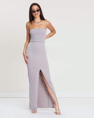 Missguided Bandeau Split Front Maxi Dress