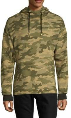 Balmain Camouflage Hooded Cotton Sweatshirt