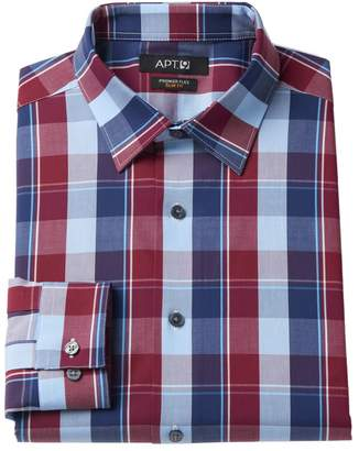 Apt. 9 Men's Slim-Fit Premier Flex Collar Plaid Stretch Dress Shirt
