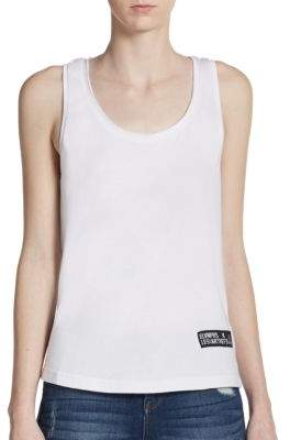 Abstract Print Moss Tank Top $57 thestylecure.com
