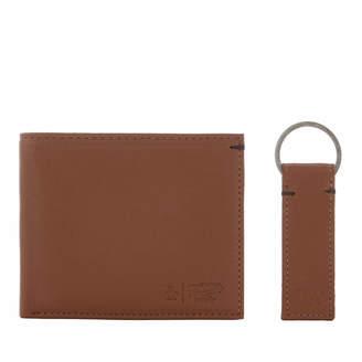 Original Penguin Men's Leather Wallet and Keyring Set