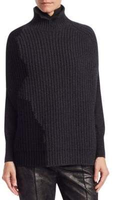 Akris Two-Tone Cashmere Cape