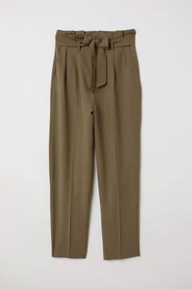 H&M Paper-bag Pants - Green