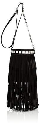 Tomasini Women's Sunset Fringed Suede Bucket Bag
