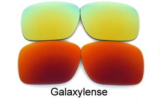 Oakley Galaxylense Galaxy Replacement Lenses for Holbrook Red&Gold Color Polarized 2 Pairs