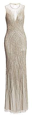 Jenny Packham Women's Irene Beaded Gown