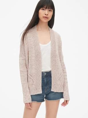 Gap Pointelle Open-Front Cardigan Sweater