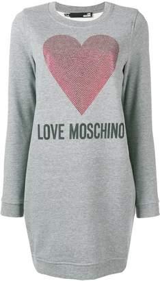Love Moschino sequinned heart sweater dress