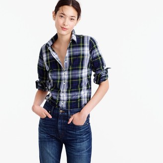 Perfect shirt in navy Stewart plaid $78 thestylecure.com