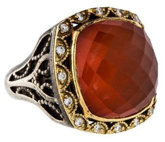 Tacori Carnelian Doublet & Diamond Bold Crescent Crown Ring