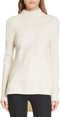 Veronica Beard Rama Merino Wool & Cashmere High/Low Sweater