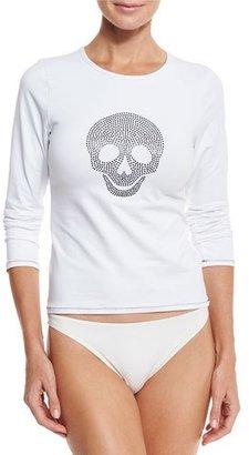 Letarte Studded Skull Rashguard, White $168 thestylecure.com