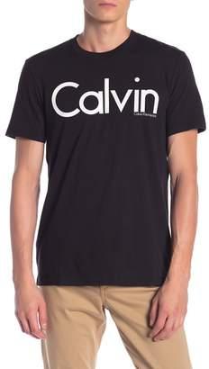Calvin Klein Front Logo Crew Neck Tee