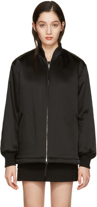 T by Alexander Wang Black Bomber Jacket $495 thestylecure.com