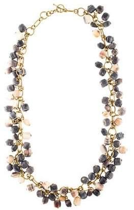 Ashley Pittman Horn Charm Chain Necklace
