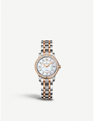 Rosegold CARL F BUCHERER 00.10621.07.77.31 Stainless Steel and Rose-Gold Diamond watch