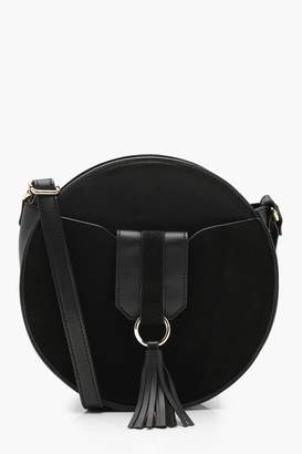 boohoo Kelly Ring & Tassel Round Cross Body