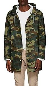 Stutterheim Raincoats Men's Stockholm Camouflage-Print Raincoat - Green