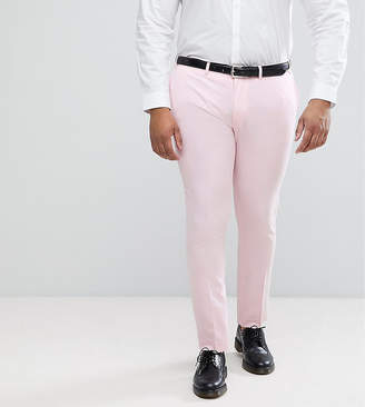 Asos Design PLUS Wedding Super Skinny Smart Pants In Pale Pink