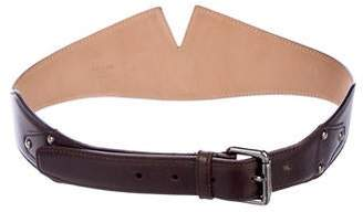 Alaia Leather Buckle Belt