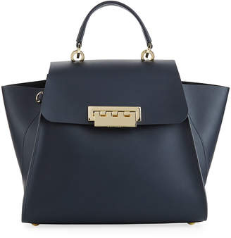 Zac Posen Eartha Iconic Leather Top-Handle Bag with Star Strap