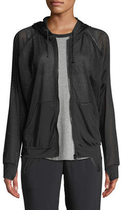 Blanc Noir Pool Side Hooded Mesh Jacket