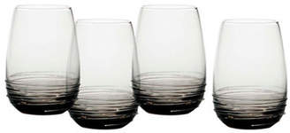 Mikasa Swirl Smoke Stemless Wine Glass Set of 4