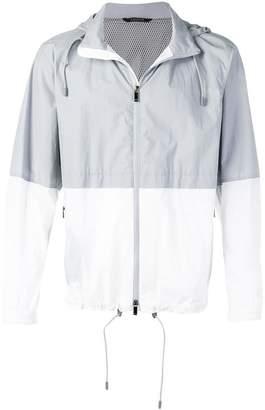 Ermenegildo Zegna two tone rain jacket