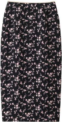 N°21 (ヌメロ ヴェントゥーノ) - ヌメロ ヴェントゥーノ バックデザインフラワープリントスカート