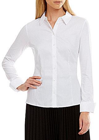 Calvin KleinCalvin Klein Mixed Fabric Woven and Knit Shirt
